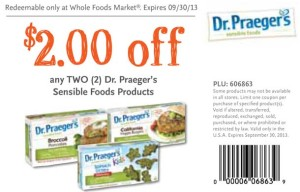 Whole Foods Dr. Praegers Sensible Foods