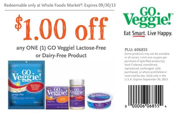 Go Veggie Coupon Whole Foods