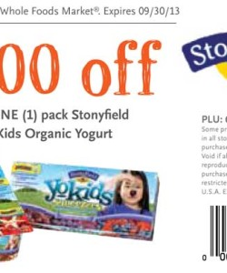 Whole Foods Stonyfield Organic Yokids Yogurt