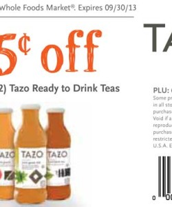Whole Foods Tazo Tea Discount