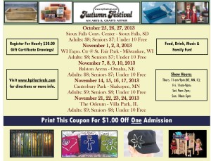 Autumn Festival $1 discount coupon
