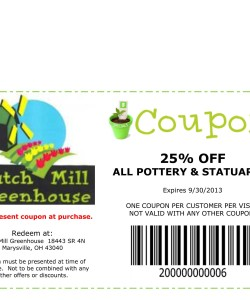 Dutch Mill Greenhouse Discount Coupon