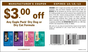 Eagle Pack Dry dog or dry cat food formula