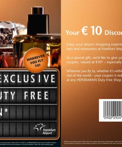 Frankfurt Airport Coupon Duty Free Discount