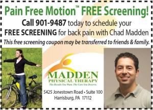 Free Back pain screening coupon