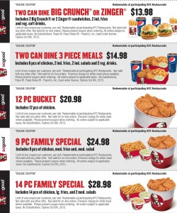KFC Multi-Discount Coupons