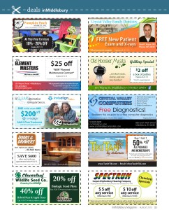 Middlebury Multi-coupon deal