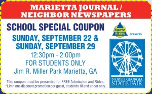 North Georgia State Fair Student Coupon