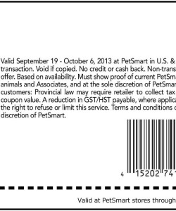Petsmart Pet Training Class Discount Coupon