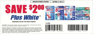Plus White Teeth Whitening Coupon