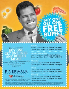 Riverwalk Casino Hotel free buffet coupon
