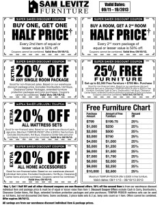 Sam Levitz Furniture Coupons