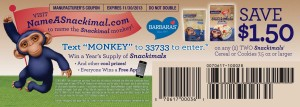 Snackimals Cereal Cookies coupon