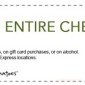 20 Percent off Entire Check Souplantation Coupon