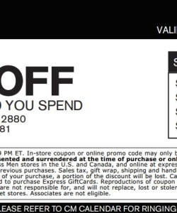 $25 off Express for Women and Men Coupon