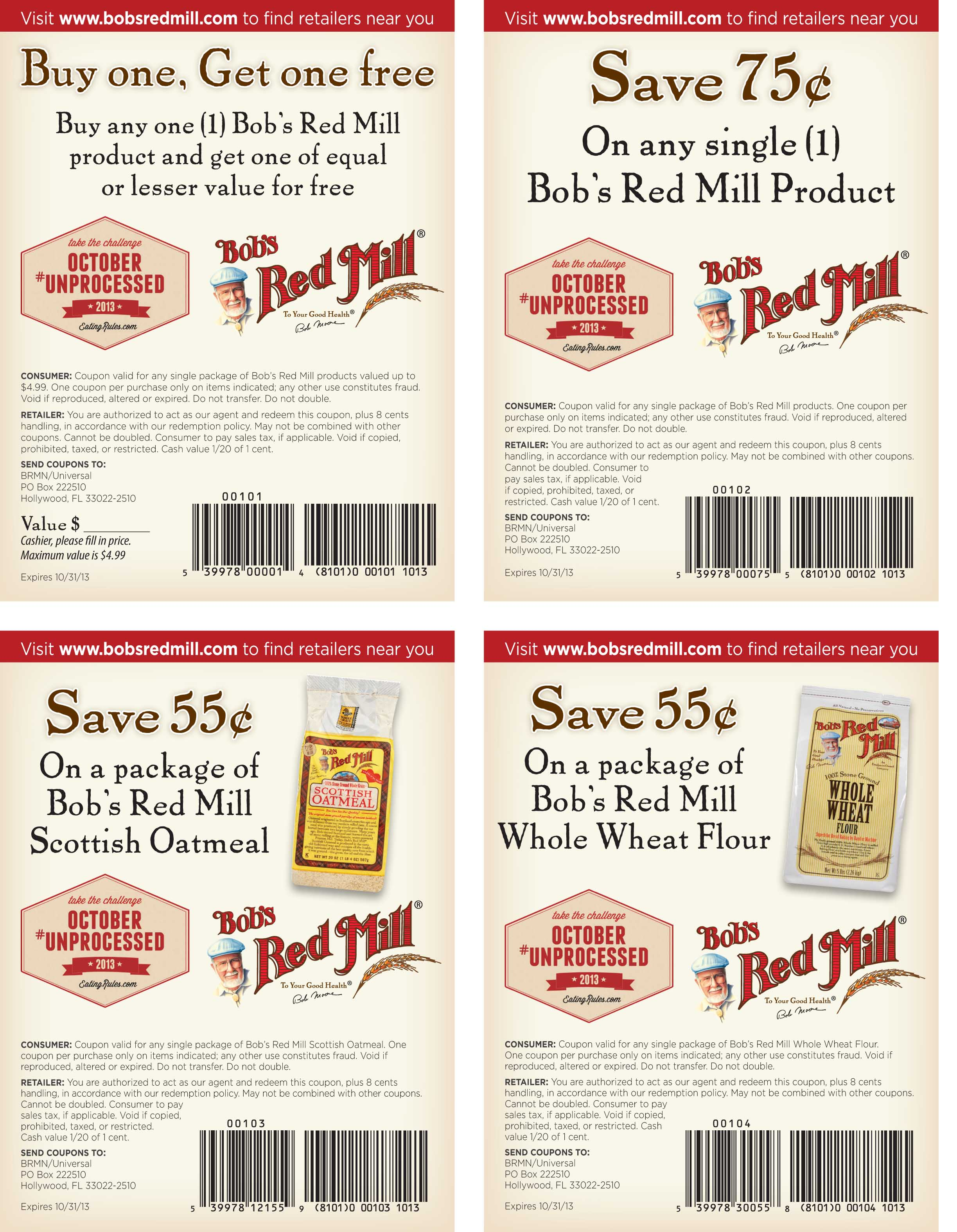 Bob's discount coupons