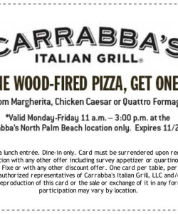 Carrabbas Italian Grill Coupon BOGO