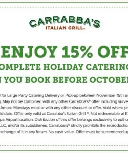 Does Carrabba's Italian Grill cater?