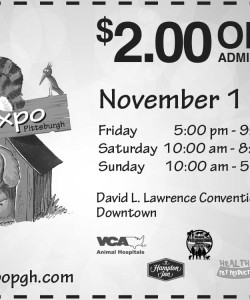 Pittsburgh Pet Expo Coupon Admission $2 off