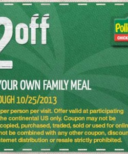 $2 OFF Pollo Tropical Coupon Family Meal