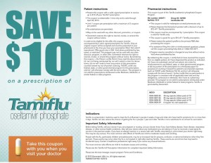 Tamiflu Prescription Coupon 2013