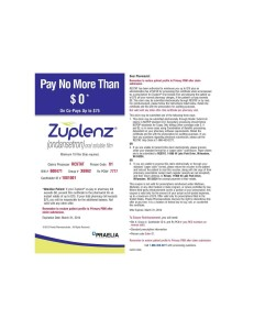 Zuplenz Prescription Coupon 2013 to 2014