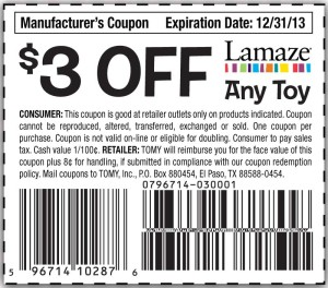 3 off Lamaze Baby Toys Coupon