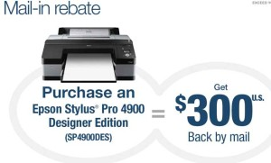Epson Printer Mail in Rebate Coupon