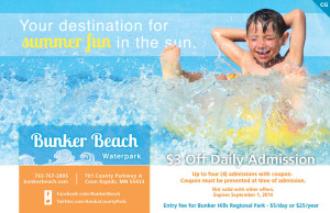 Bunker Beach Coupon 2014 Save 3 dollars off Waterpark