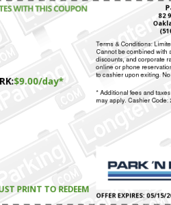 Park n fly oakland discount coupon
