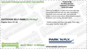 Park N Fly Oakland California Airport Coupon 2015